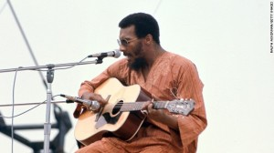 Richie Havens on stage Friday afternoon--Freedom.