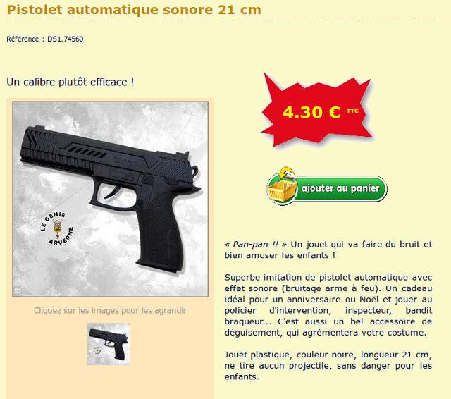 jouet : pistolet