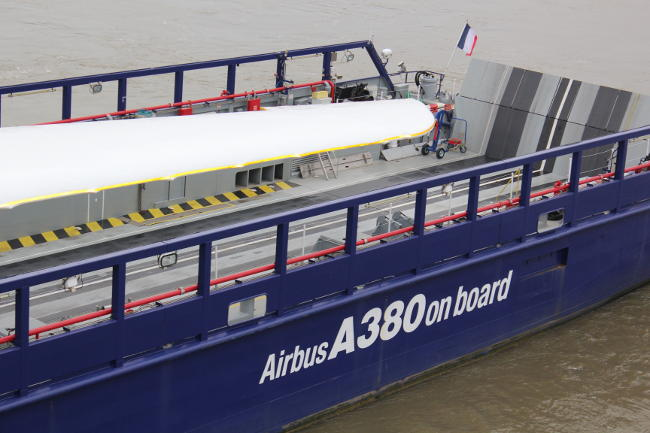 transport pièces d'A380