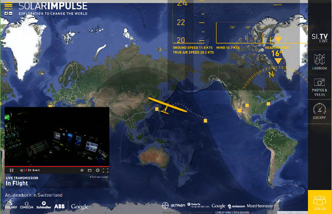 position de solar impulse 2