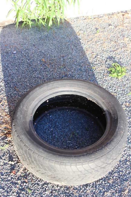 pneu rempli d'eau